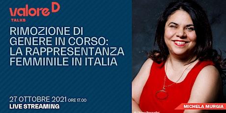 Rimozione di genere in corso: la rappresentanza femminile in Italia biglietti