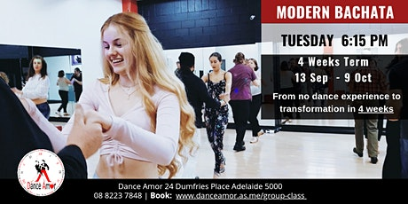 Modern Bachata Beginners Dance Class Adelaide - Tues 6:15 PM tickets