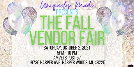 Fall Vendor Fair tickets