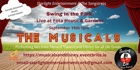 Swing in the Park - Musical Theatre and Disney concert tickets