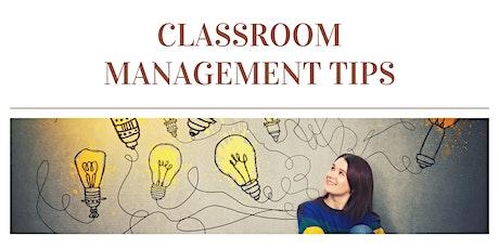 Organization & Classroom Management Tips tickets