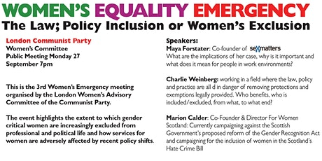 Womens Equality Emergency Meeting tickets