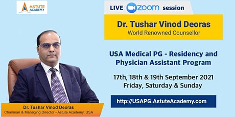 Live Zoom Discussion session - USA Medical PG - Residency and Physician Ass tickets