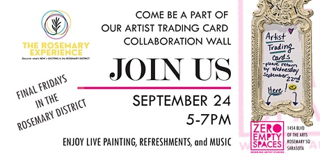 Zero Empty Spaces (Sarasota) Artists Trading Card Event tickets