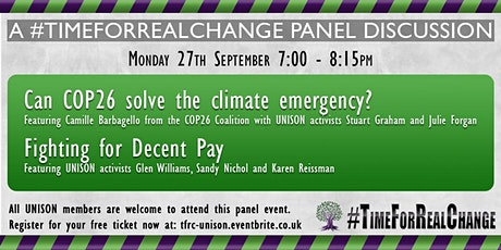 #TimeForRealChange: Can COP26 Solve the Climate Emergency? - open meeting tickets