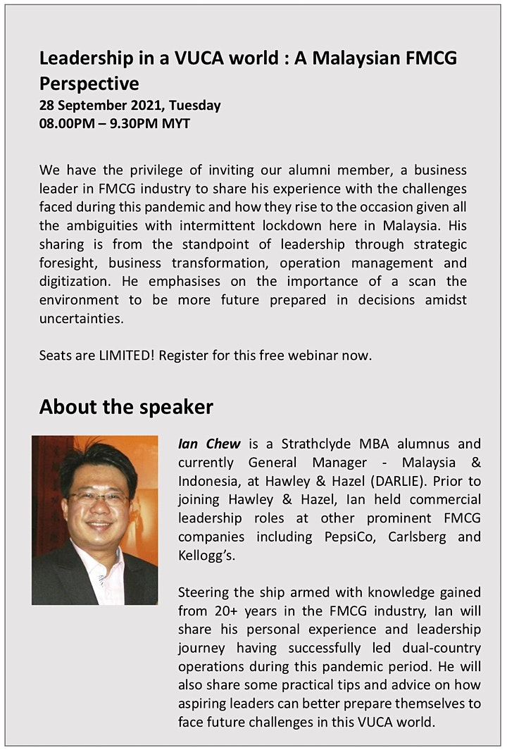 Leadership in a VUCA World: A Malaysian FMCG Perspective image