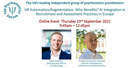 The Psychometrics Forum Virtual Event Thursday 23rd September 2021 tickets