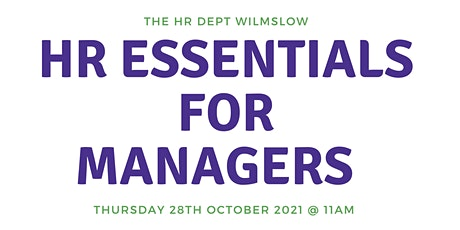 Free Webinar - HR Essentials for Managers tickets