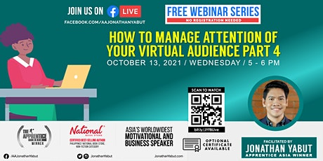 How to Manage Attention of Virtual Audience, Part 4 tickets