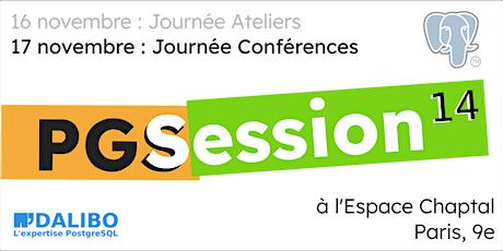 PGSession 14 : journée Conférences billets