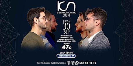 KCN Speed Networking Online Zona Centro 30 SEP entradas