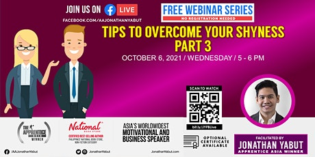 Tips To Overcome Your Shyness, Part 3 tickets