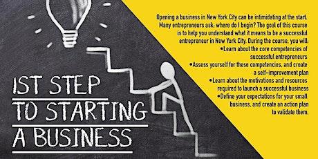 Webinar  First Steps To Starting A Business, Upper Manhattan, 10/28/2021 tickets