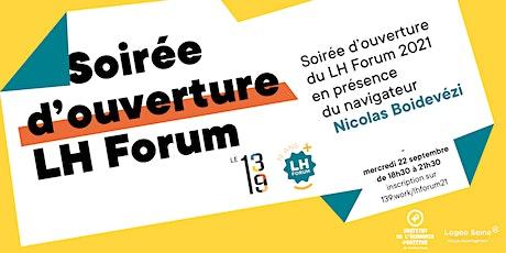 Soirée d'ouverture LH Forum 2021 billets