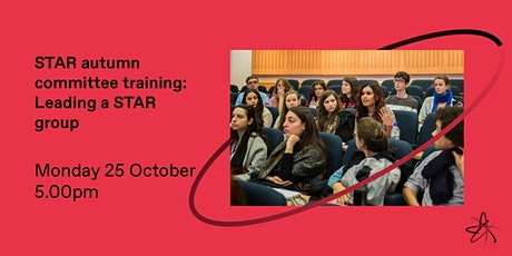 Autumn committee training: Leading a STAR group tickets