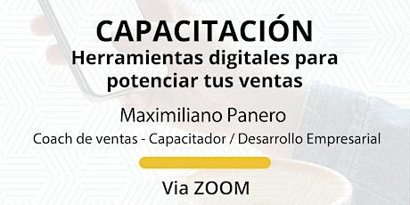 Herramientas digitales para potenciar tus ventas - Maximiliano Panero entradas