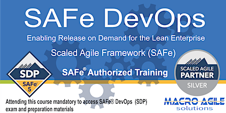 SAFe DevOps Training with Certification- 2 days -Virtual Instructor Led tickets