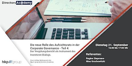 Der Vergütungsbericht als Instrument des Investoren Dialogs. Tickets