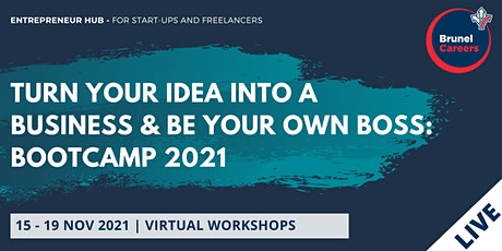 Turn your idea into a business & be your own boss (INDIVIDUAL W/S bookings) tickets