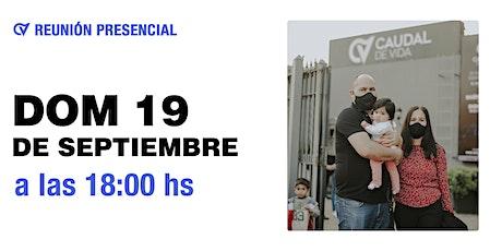 Reunión Presencial en Caudal de Vida Domingo 19/09 18 hs. tickets