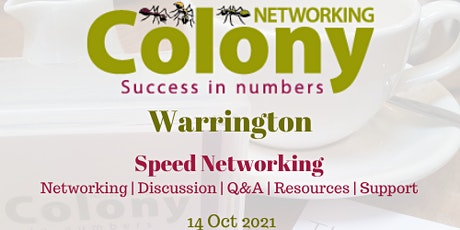 Colony Warrington - Speed Networking Event tickets