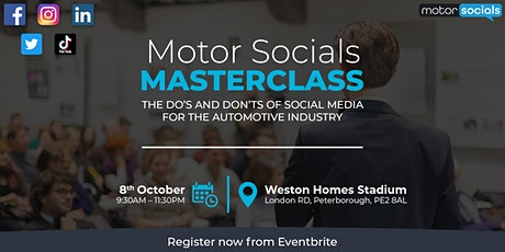 Motor Socials Social Media Masterclass tickets