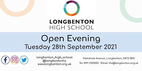 Longbenton High School Open Evening tickets