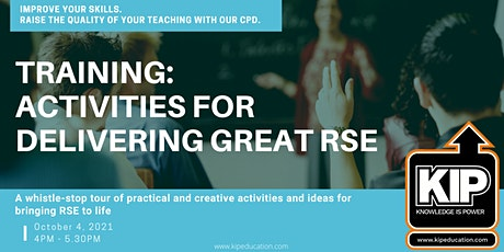 Interactive Webinar: Activities for Delivering Great RSE tickets
