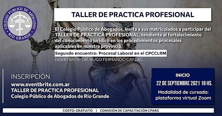 Imagen de TALLER DE PRACTICA PROFESIONAL - 2° Encuentro