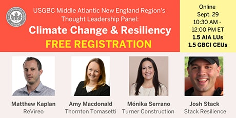 USGBC Middle Atlantic New England region: Climate Change & Resiliency tickets