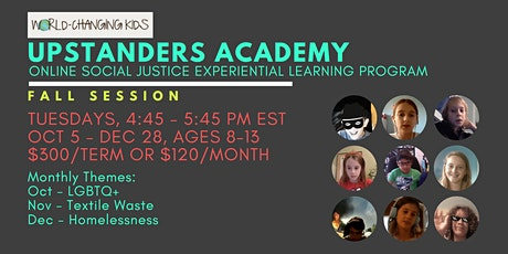 Upstanders Academy: Fall Session tickets