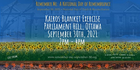 Kairos Blanket Exercise • Parliament Hill • September 30th tickets