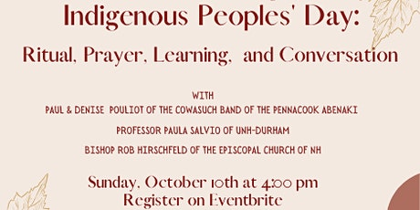 Celebrating Indigenous People's Day: Ritual, Prayer, Learning, Conversation tickets
