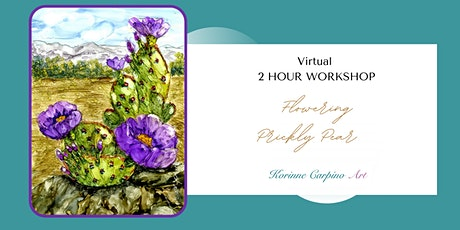 Learn to Paint a Flowering Prickly Pear in Alcohol Ink tickets
