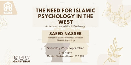 The need for Islamic Psychology tickets