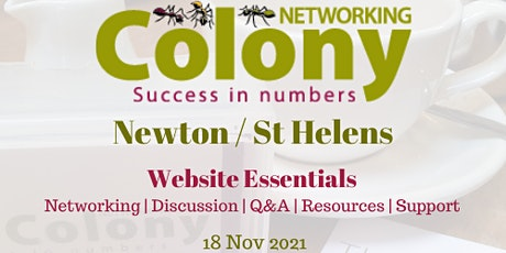 Colony Newton & St Helens - Networking & Speaker Event tickets