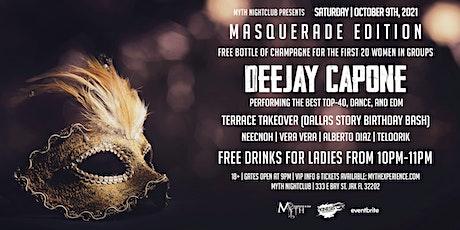 Saturday Night - MASQUERADE EDITION at Myth Nightclub | Saturday 10.9.21 tickets