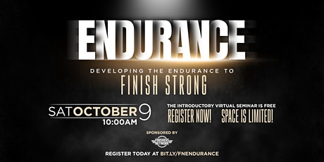Developing the Endurance to Finish tickets