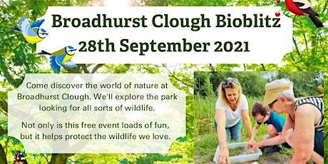 BioBlitz  at Broadhurst  Clough, Broadhurst Park tickets