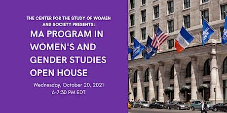 MA Program in Women's and Gender Studies Open House tickets