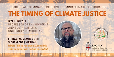 The Timing of Climate Justice tickets