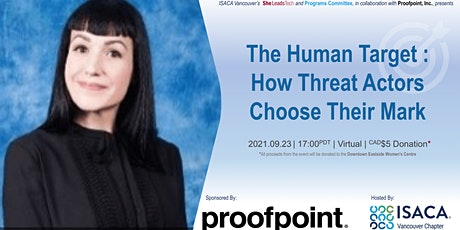 The Human Target : How Threat Actors Choose Their Mark tickets