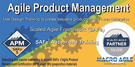 SAFe® Agile Product Management- Virtual Instructor Led tickets