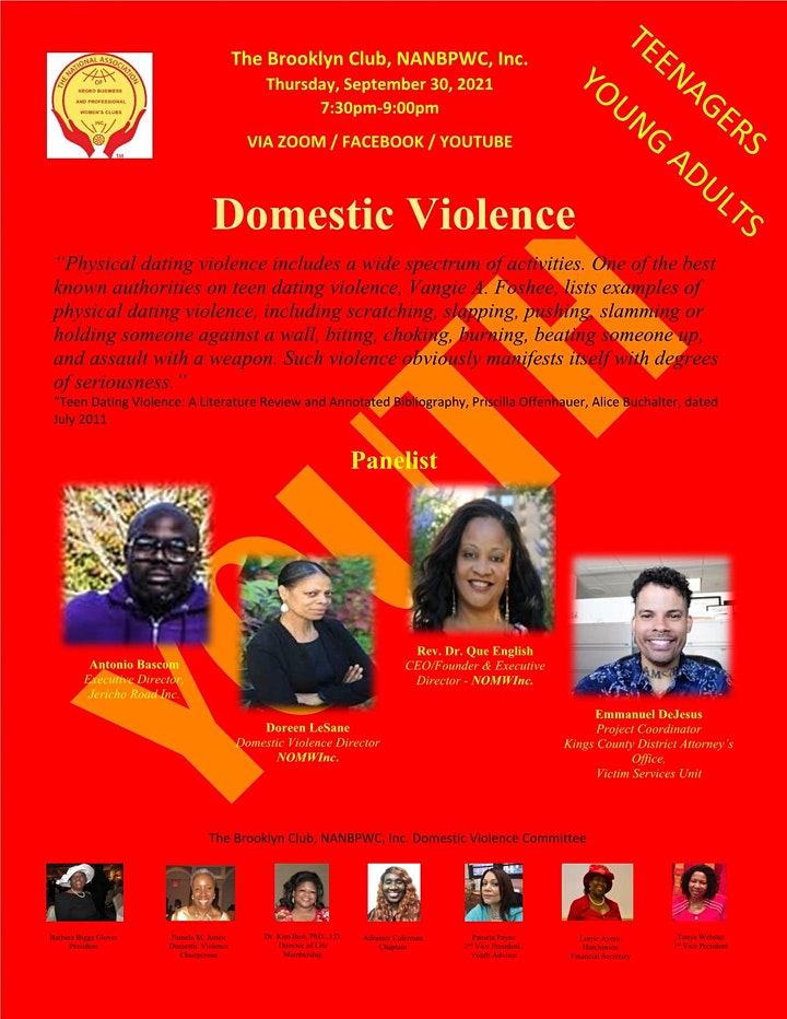 Domestic Violence - Youth / Young Adults image