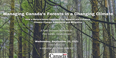 """""""Managing Canada's Forests in a Changing Climate"""" tickets"""