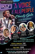 """""""A Voice 4 All People"""" Charity Gala tickets"""