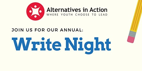 Write Night 2021 tickets