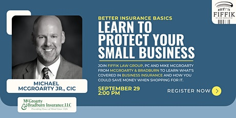 Business Insurance Basics | Better Coverage + Smarter Shopping tickets