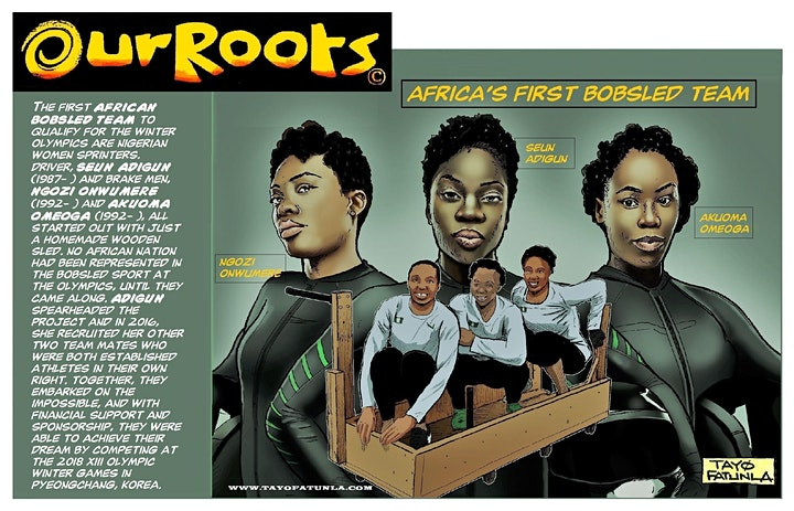 """""""OUR ROOTS""""   Virtual Cartoon  Workshop with TAYO Fatunla image"""