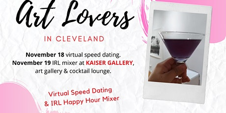 Art Lovers in Cleveland -  Hybrid Speed Dating Event tickets